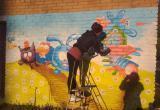 Бакальская художница Любовь Петухова оживила центр города ярким рисунком